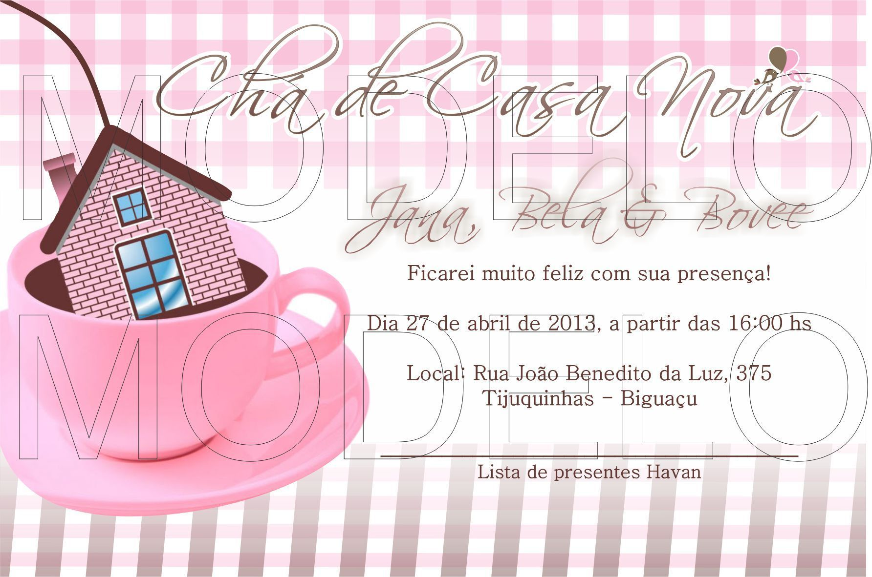Imagem de convites por Carolina Flores Pereira Convite