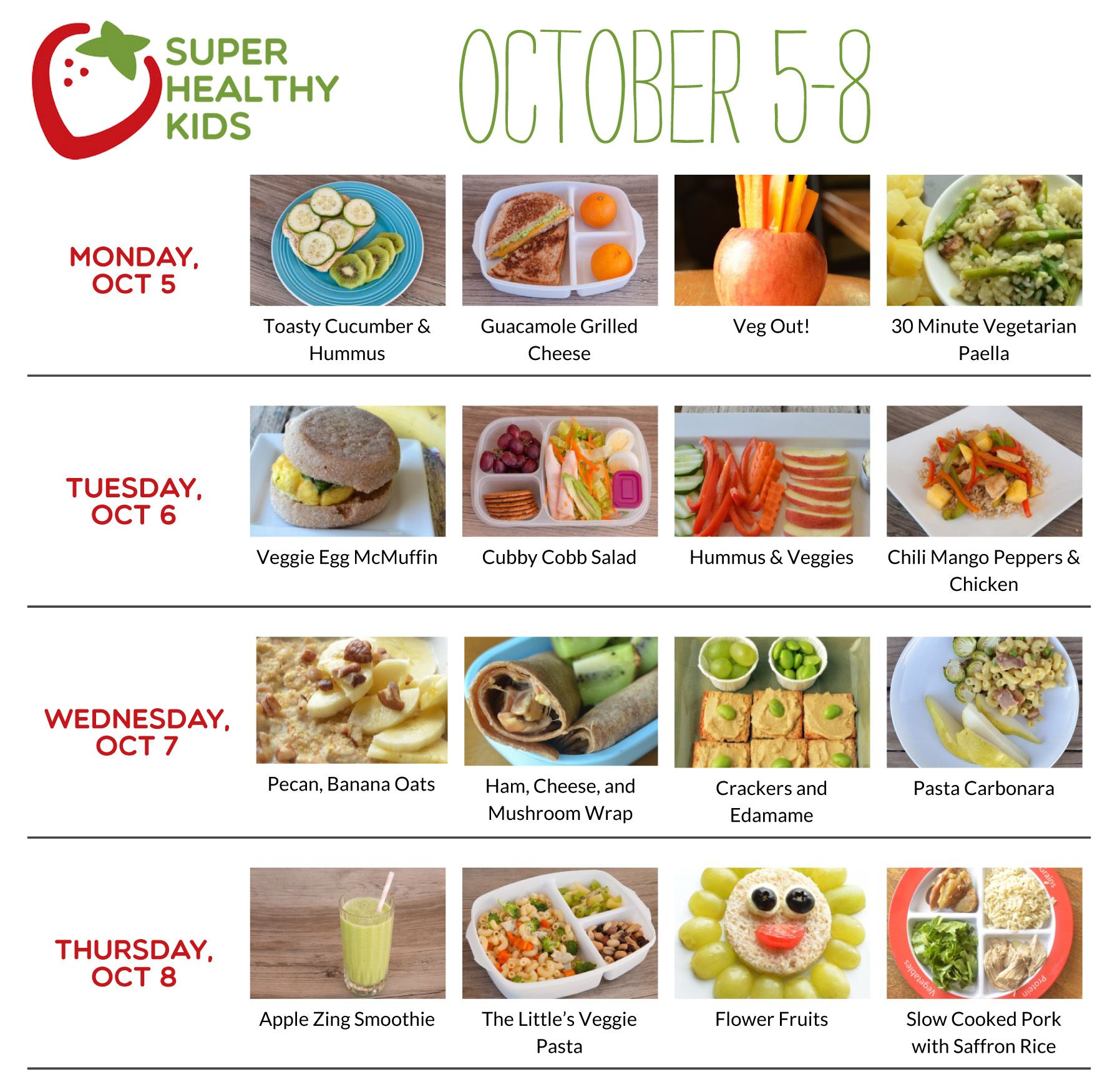 Healthy Meal Plans Super Healthy Kids Easy Meals For Kids Healthy Meal Plans Meal Planning
