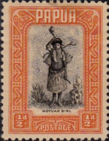 Papua 1932 SG 130 King George V Fine Used Scott 94 Other Papua New Guinea Stamps HERE