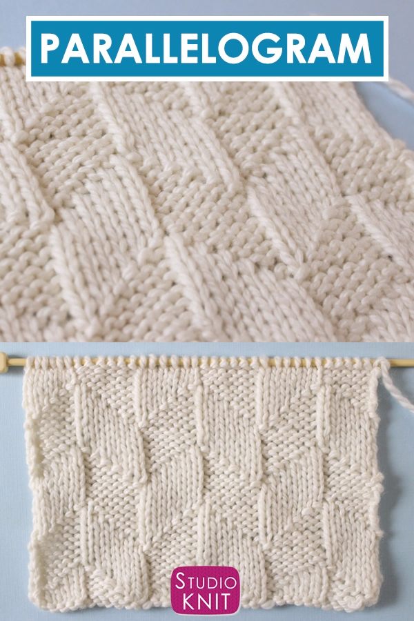 Parallelogram Stitch (Knitting Pattern)