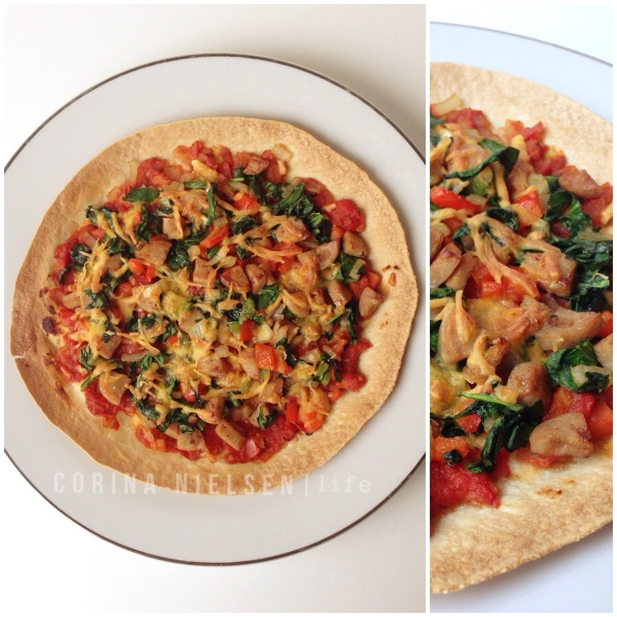 Clean Eating- Brown Rice Tortilla Pizza! Recipe On