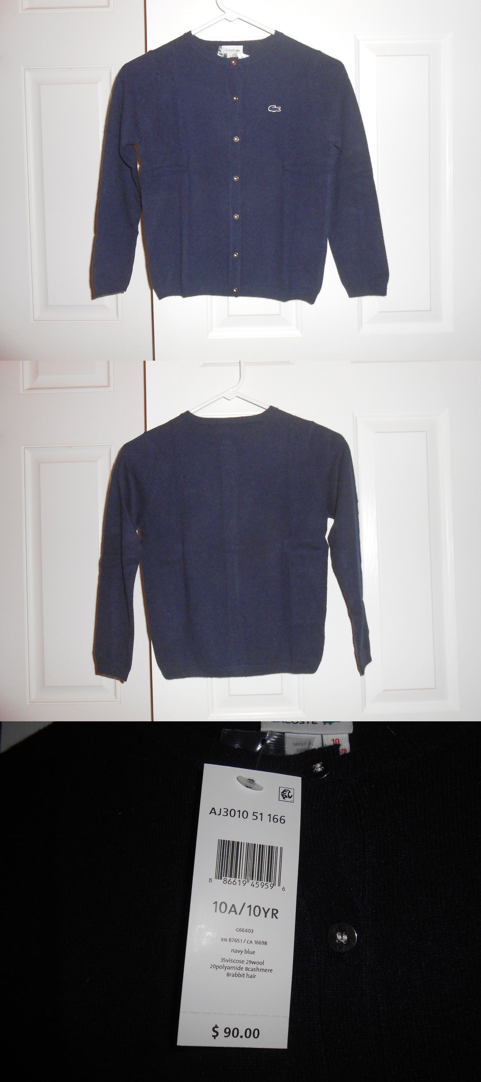 Sweaters 51946: Lacoste Navy Blue Cardigan For Boy Size 10 Nwt $90 ...
