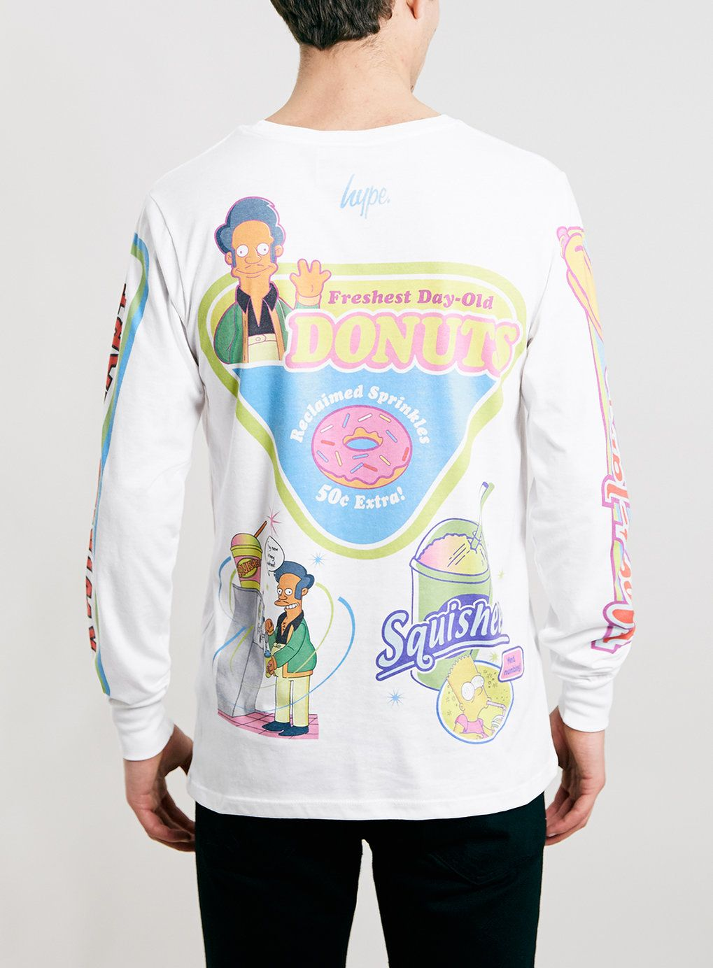 80c227a57d96d3 Hype X The Simpsons Kwik E Mart Long Sleeve T-Shirt  - Men s T-Shirts    Vests - Clothing - TOPMAN