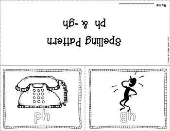 Phonics Literacy Center & Flip Book (Consonant Digraphs
