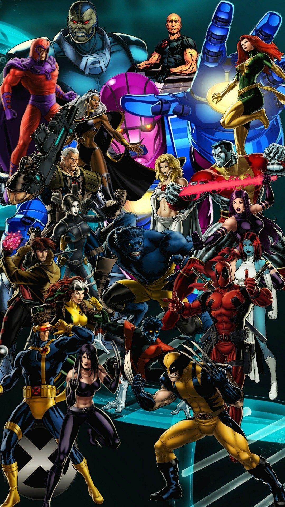X Men Wallpaper For Smartphone Marvel Xmen Marvel Comics Marvel