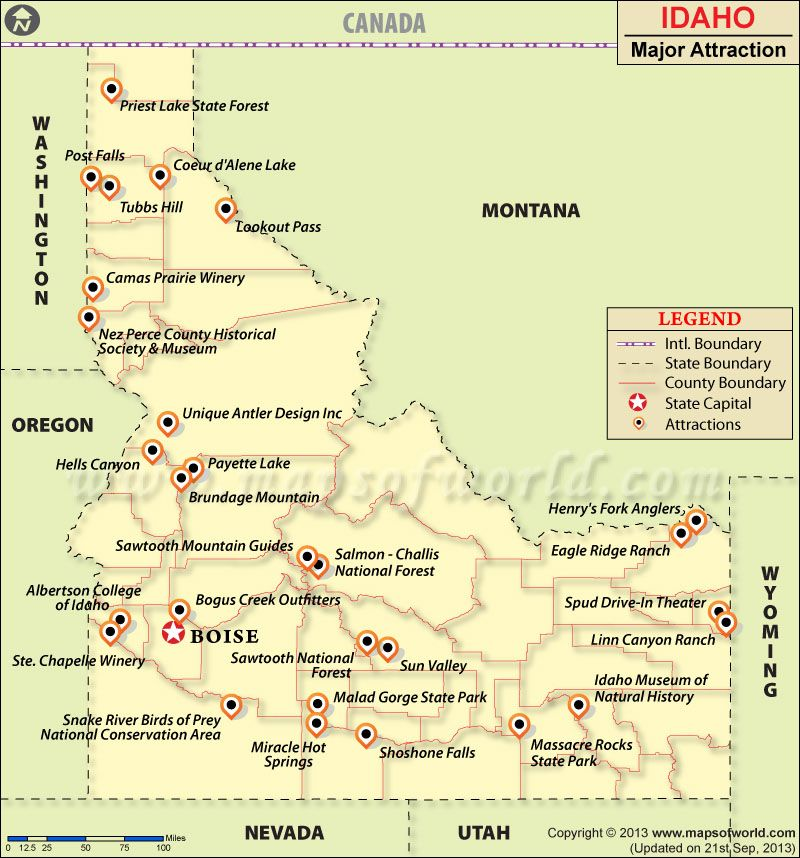 Places To Visit In Idaho Idaho Travel Attractions Map Idaho Travel Idaho Map