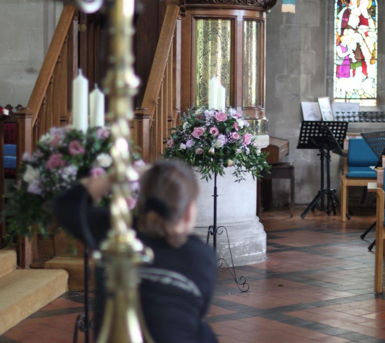 Wedding Altar Pieces: Church Wedding Decorations - Altar Flowers Spray