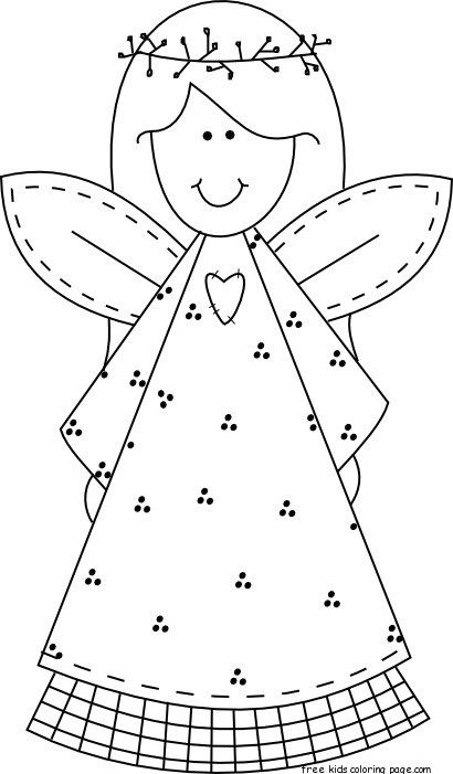 Christmas Colouring Pictures To Print Off : Christmas angel coloring pages bing images kerst pinterest