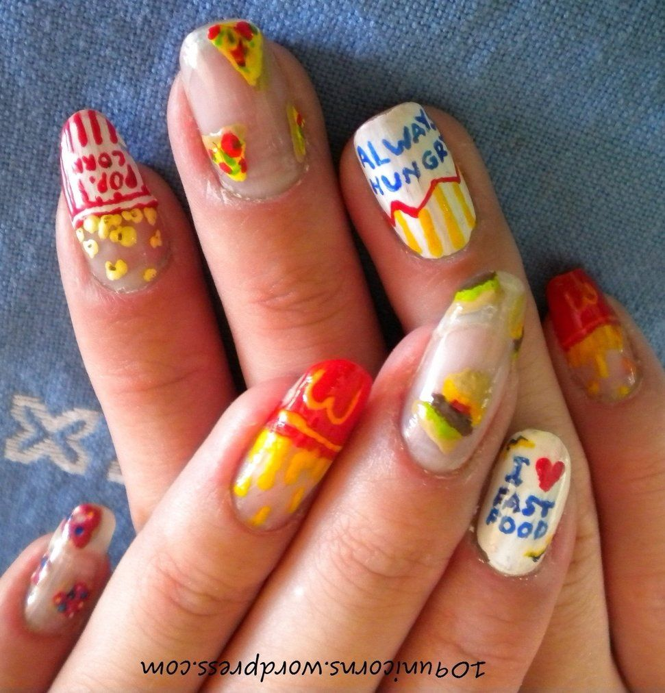 I ♡ Fast Food Nails | Nail art | Pinterest