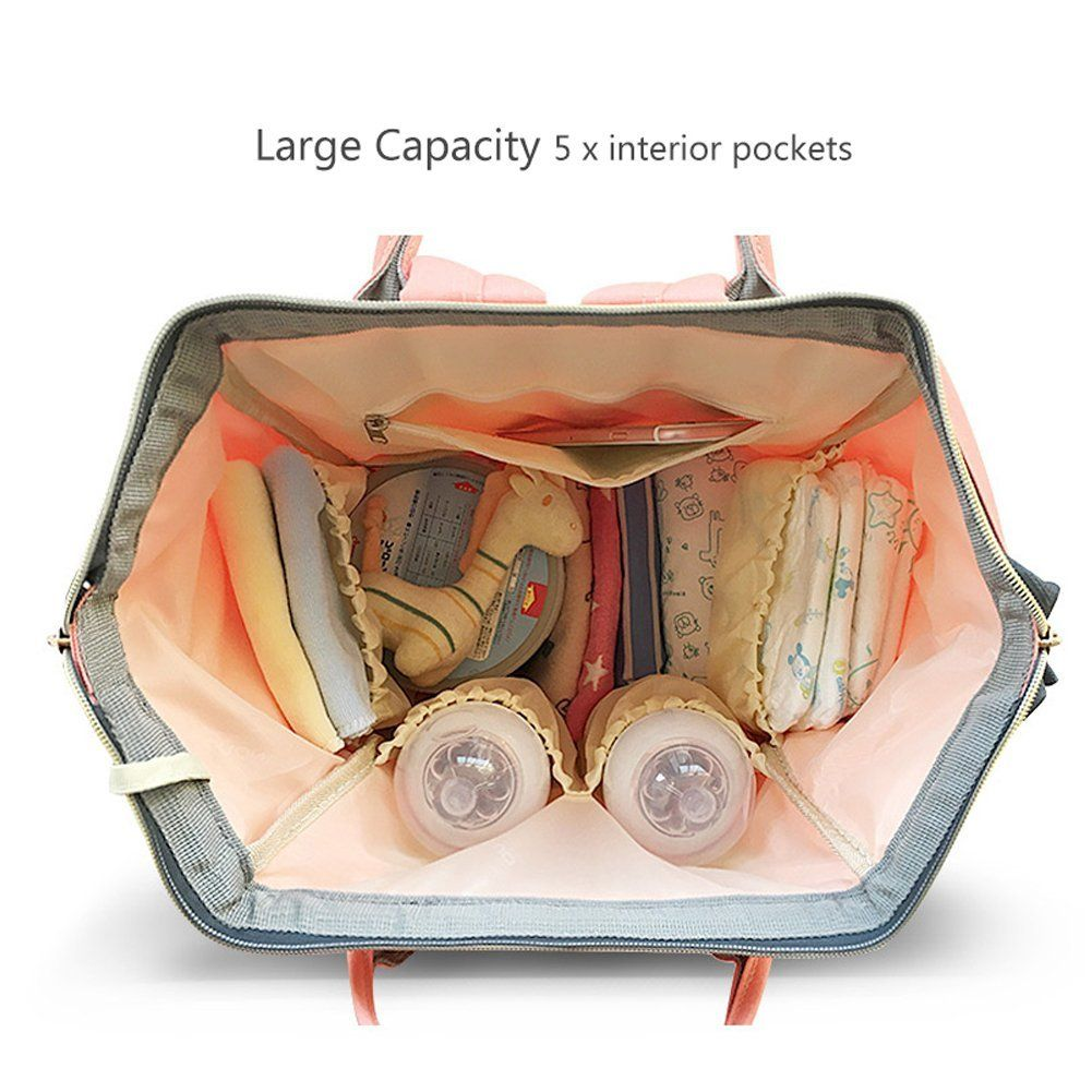 17c74055963b HaloVa Diaper Bag Multi-Function Waterproof Travel Backpack Nappy ...