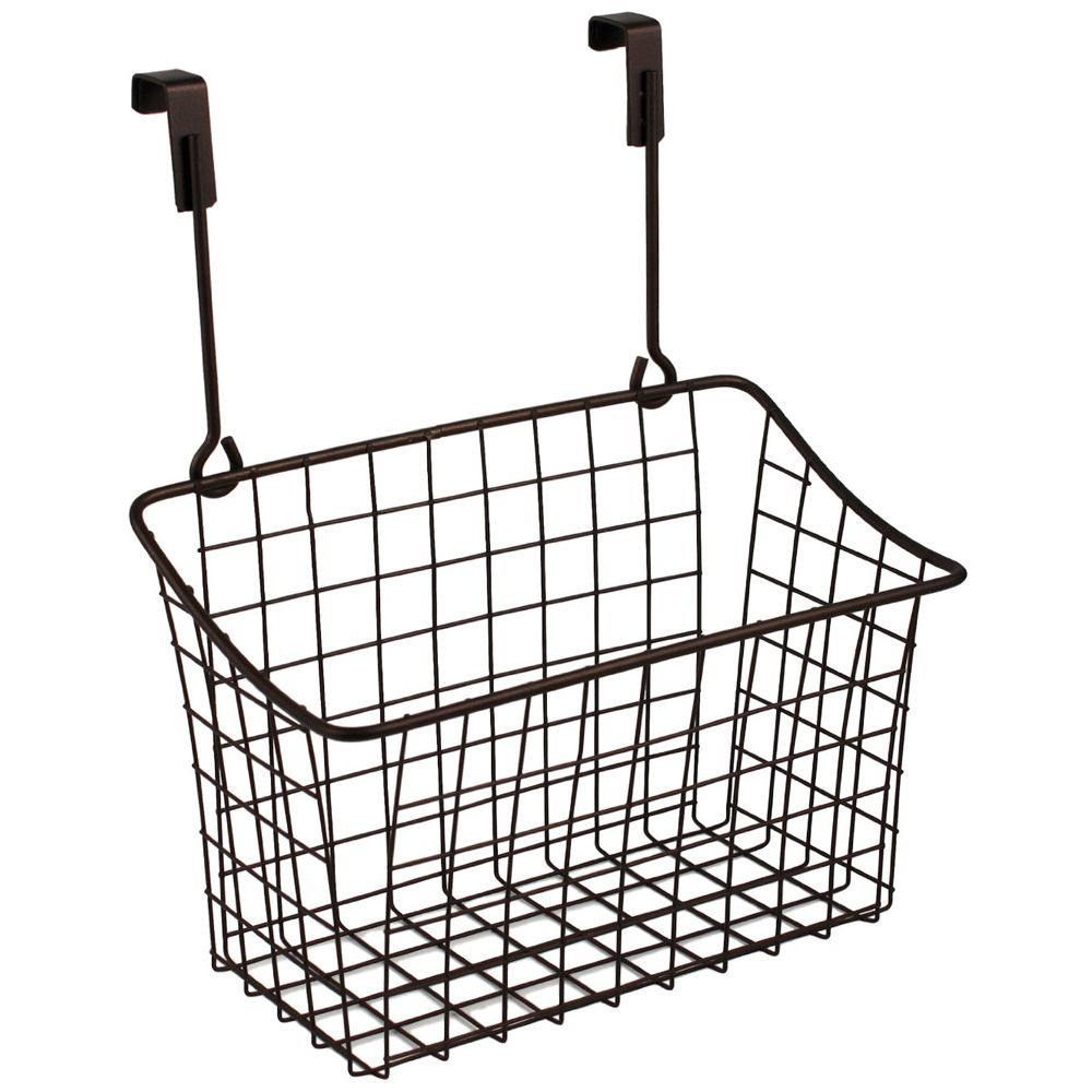 This innovative Bronze Cabinet Door Basket is a wonderful way to ...