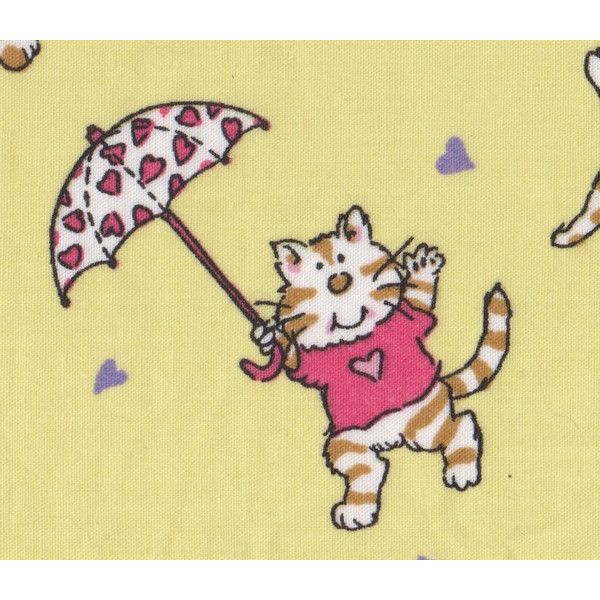Cats and Umbrellas Retired Cat Fabric FQ ($4.95) ❤ liked on Polyvore featuring home, home improvement and fabric