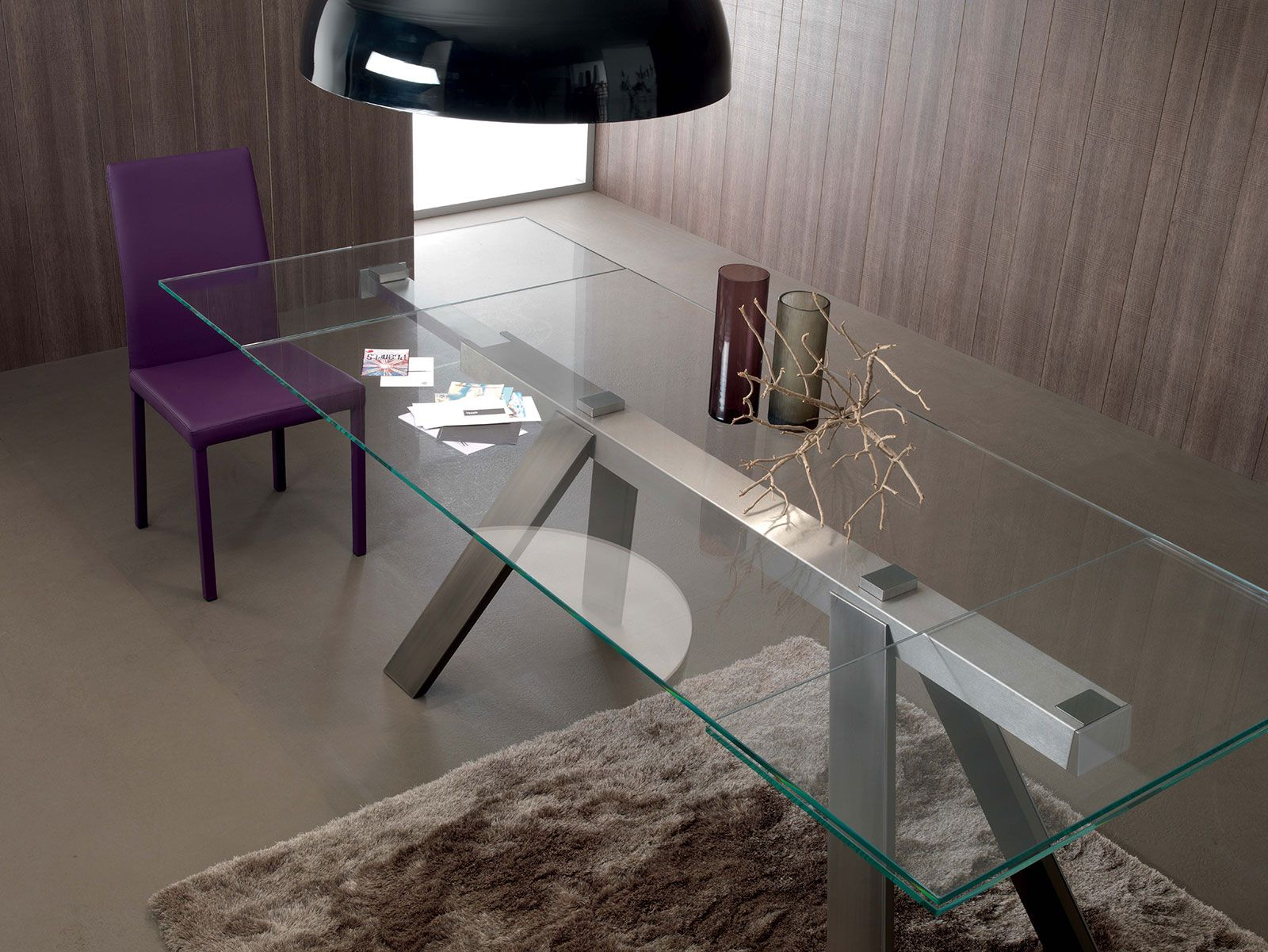 Transparence Extendable Glass Dining Table Shop Online Glass