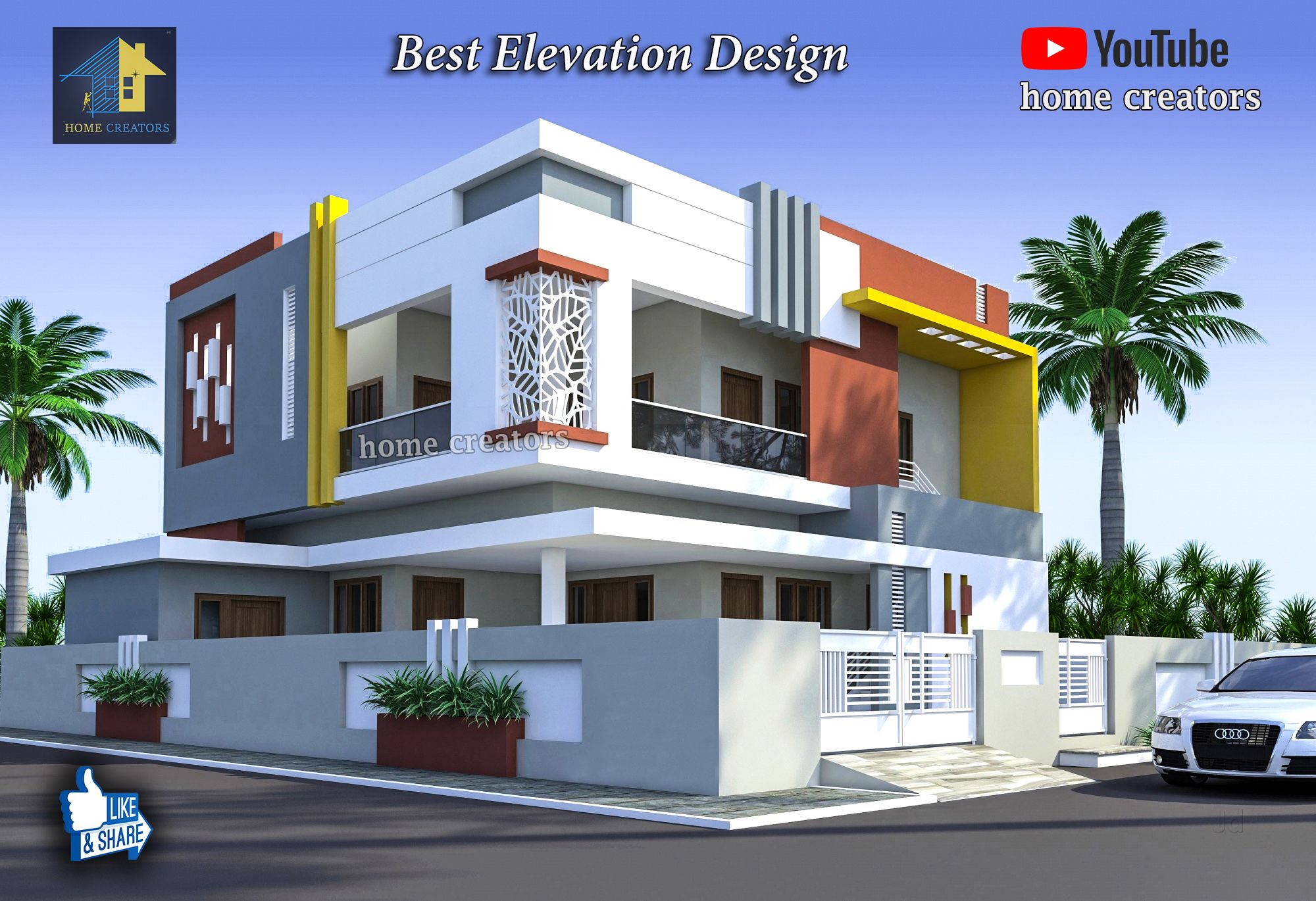 Indian House Double Floor Front Elevation Photos | Home Plan