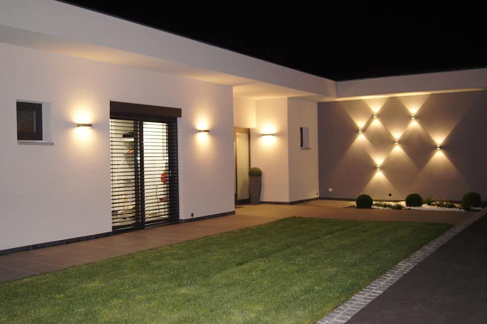 jardin moderne par bolz licht und wohnen 1946 moderne en 2020 terasse maison eclairage