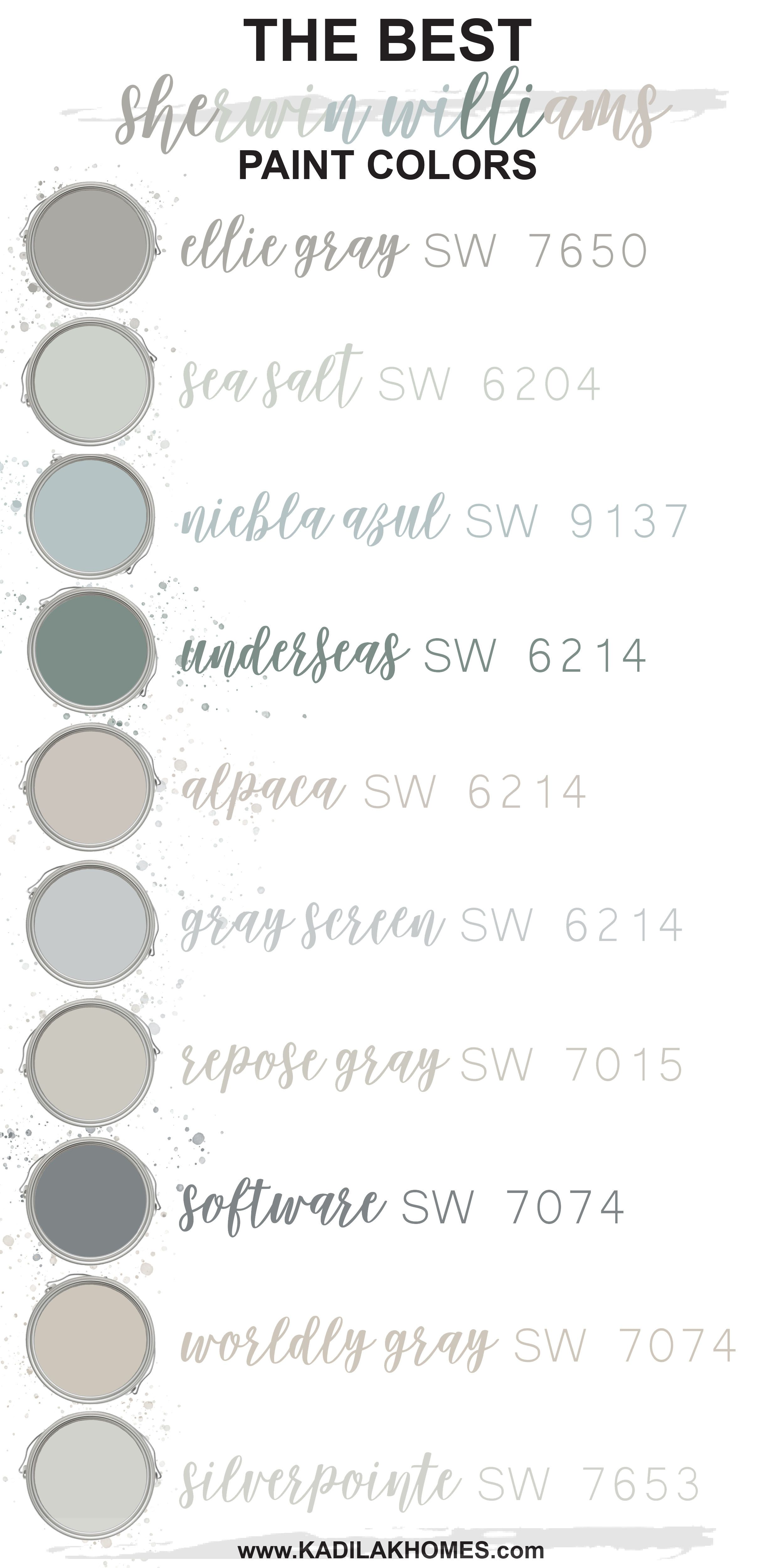 The Best Sherwin Williams Paint Colors!