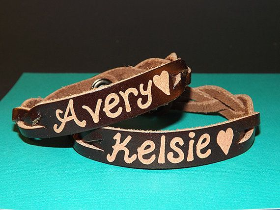 Matching Bracelets For S Custom Bracelet His And Her Leather Engraved