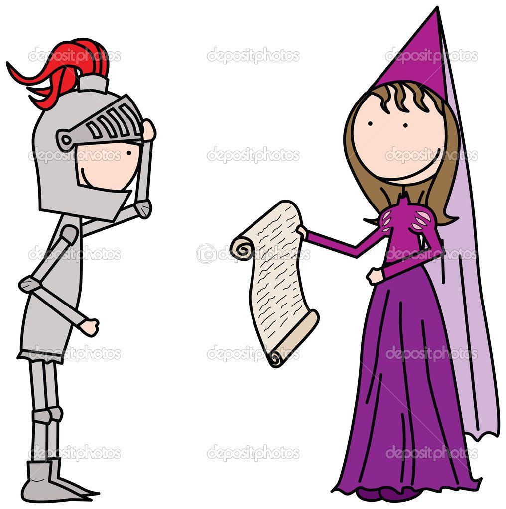depositphotos_38106397-Princess-and-knight.jpg (1016×1023) | Quijote ...