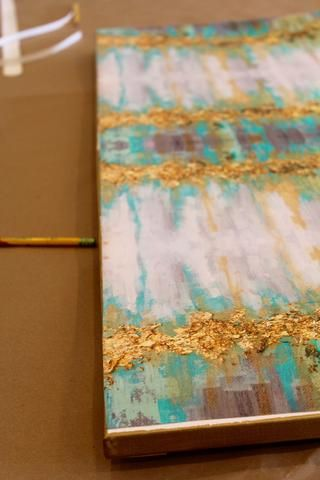 Diy Applying Wallpaper To Canvas To Create A Painting Diy Wallpaper Diy Wall Art Diy Decor Projects