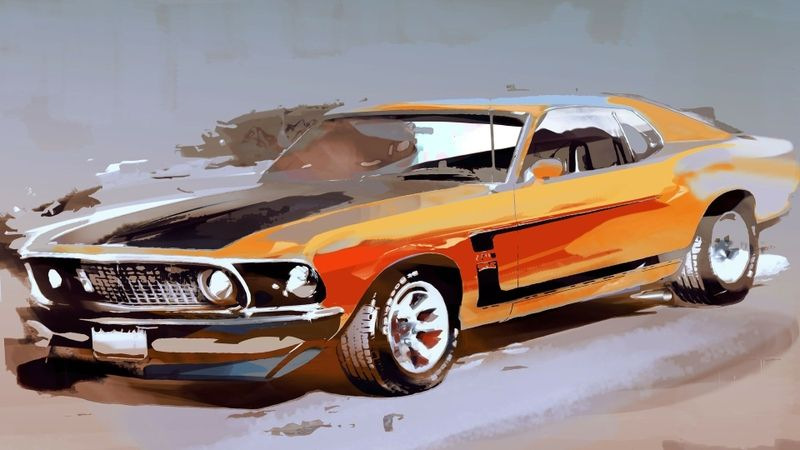 Boss Painting Mustangs Pinterest