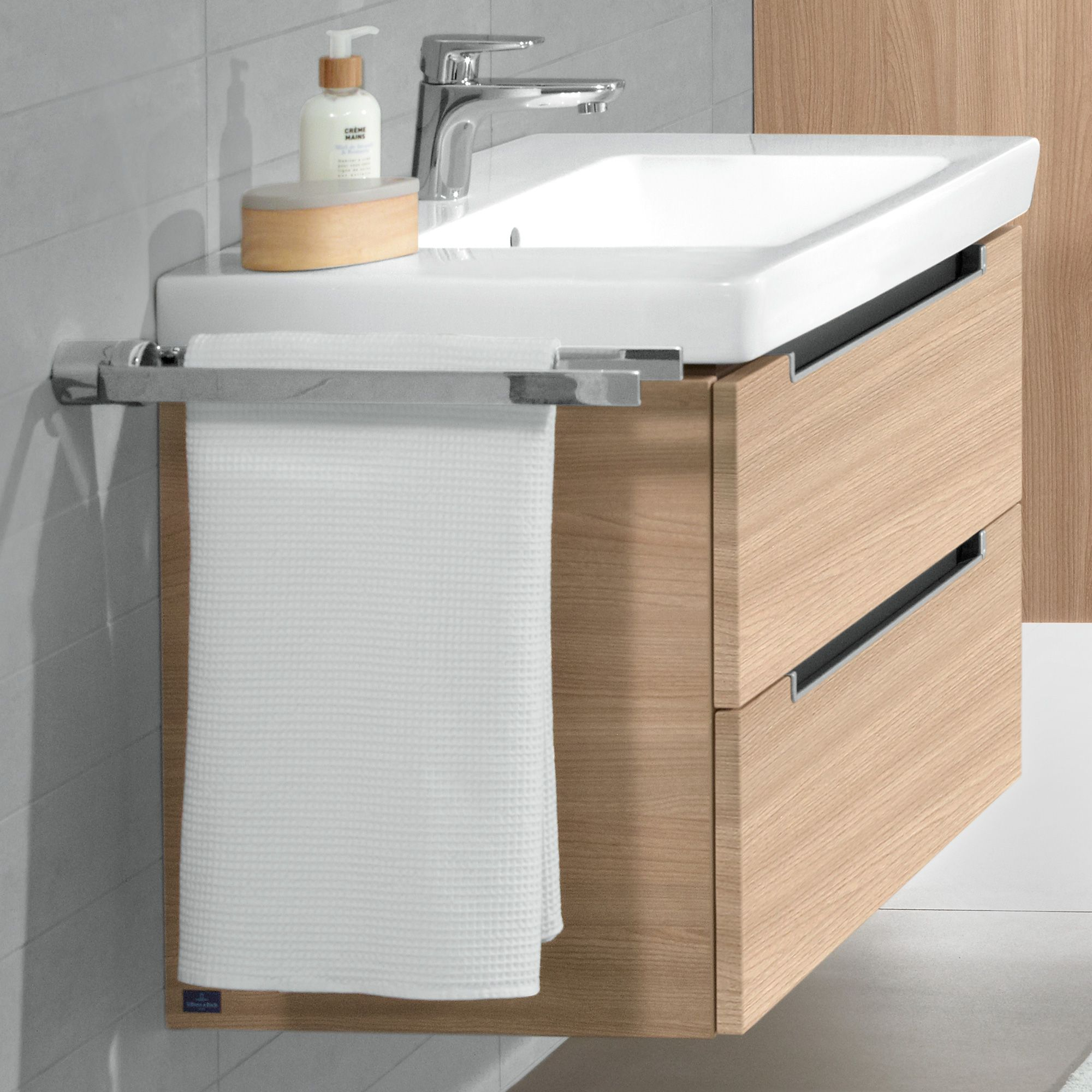 Villeroy Boch Subway 2 Vanity Unit With 2 Drawers Elm Impresso A69600pn Vanity Units Villeroy Boch Colorful Furniture