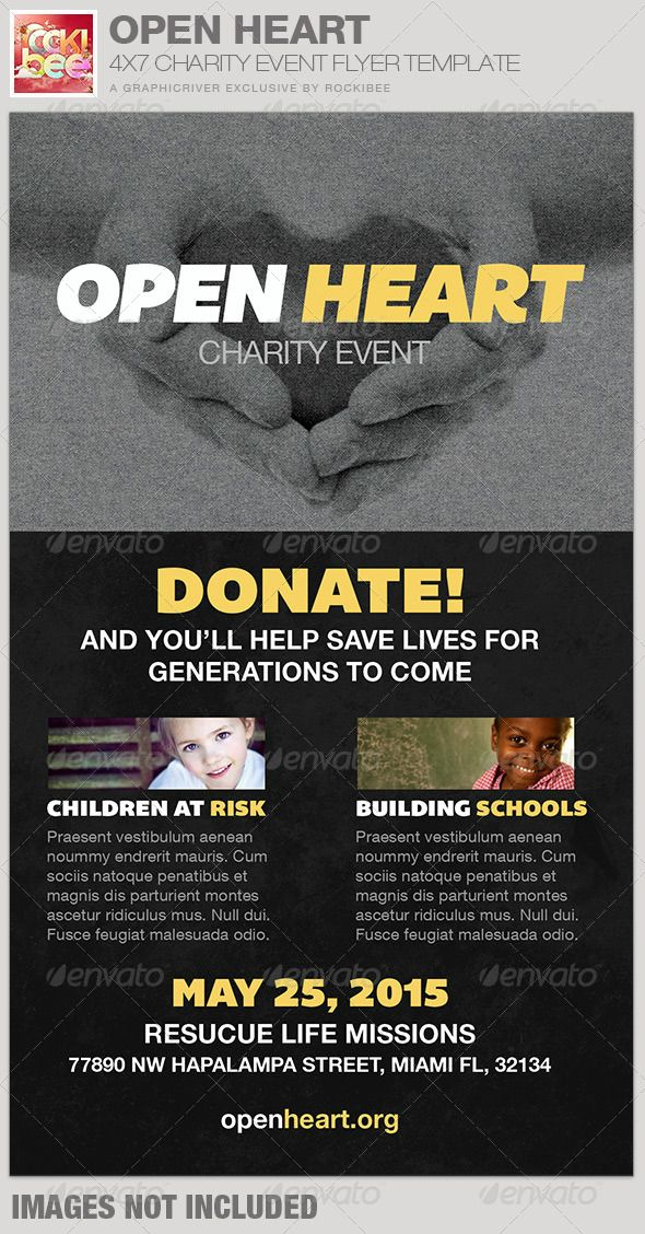 Open Heart Charity Event Flyer Template Event Flyer Templates