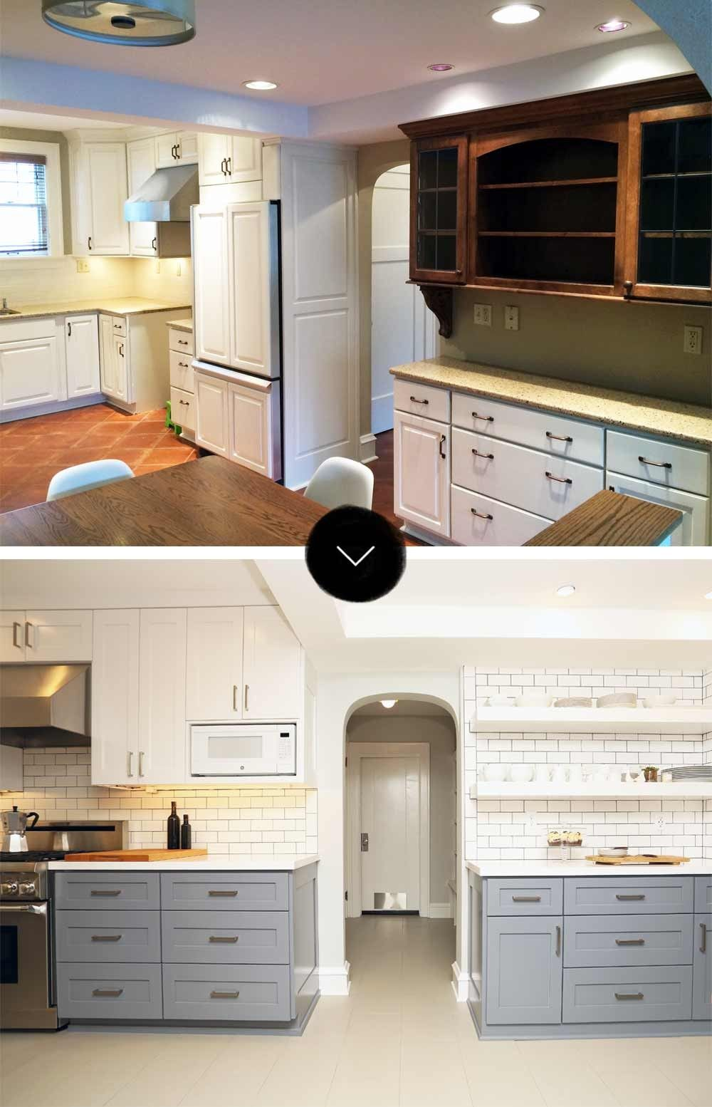 Before Amp After A Light And Bright Tudor Remodel Kitchen
