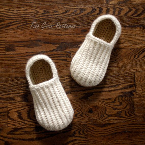 Crochet Pattern for Mens House Shoes the Lazy Day Loafers Crochet ...