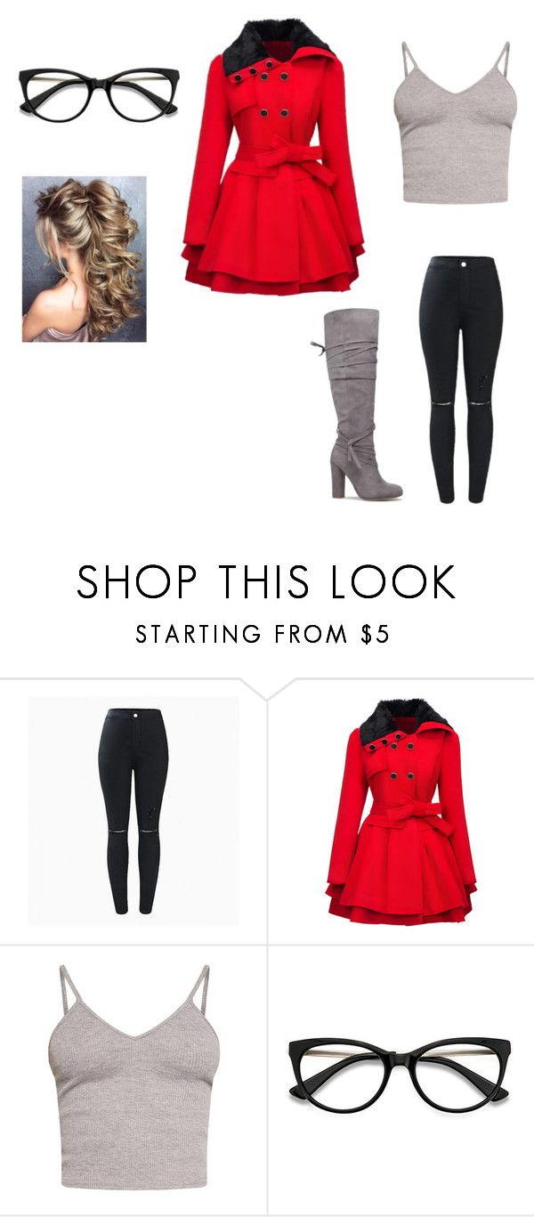 """""""Untitled #585"""" by megibson2005 on Polyvore featuring WithChic, BasicGrey and EyeBuyDirect.com"""