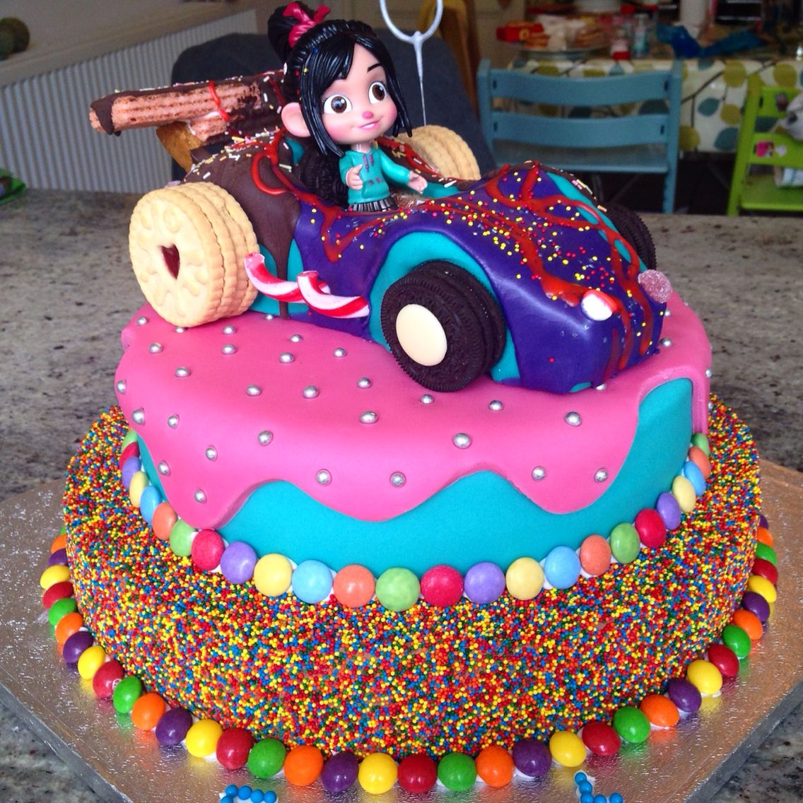 Vanellope Car Happy Birthday Cake