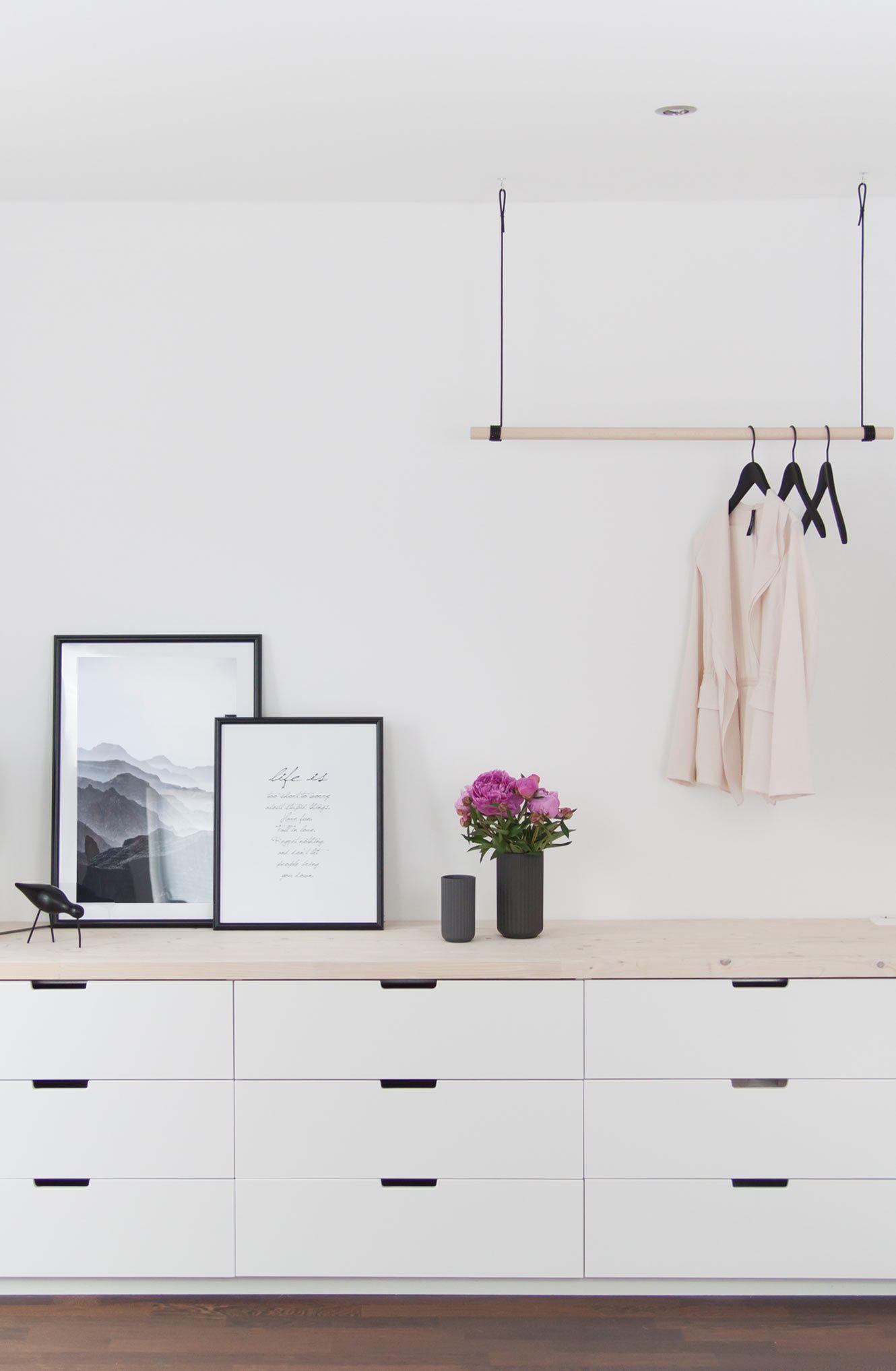 Neue Hängegarderobe & ein bißchen mehr Schlafzimmer