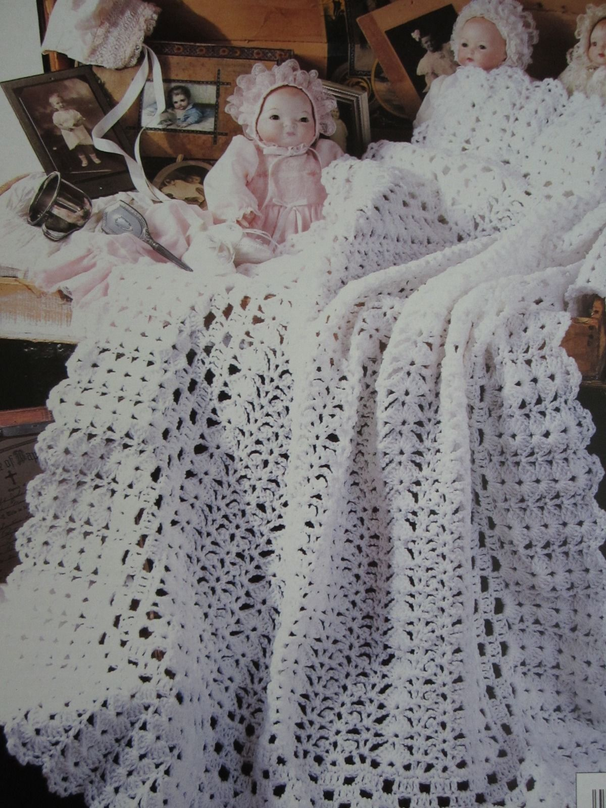 Leisure Arts Crochet Heirloom Afghans for Baby Terry Kimbrough Lace ...