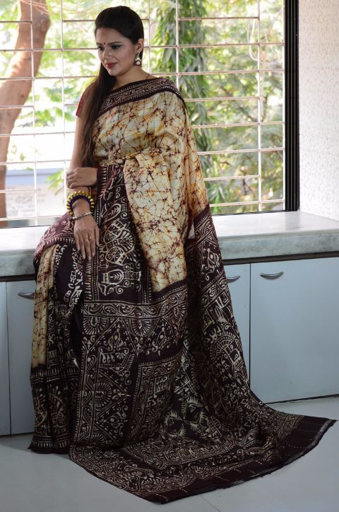 9399e958cb Buy Pure Erri/Tussar Batik Silk Saree | Gorgeous sarees et al | Silk ...