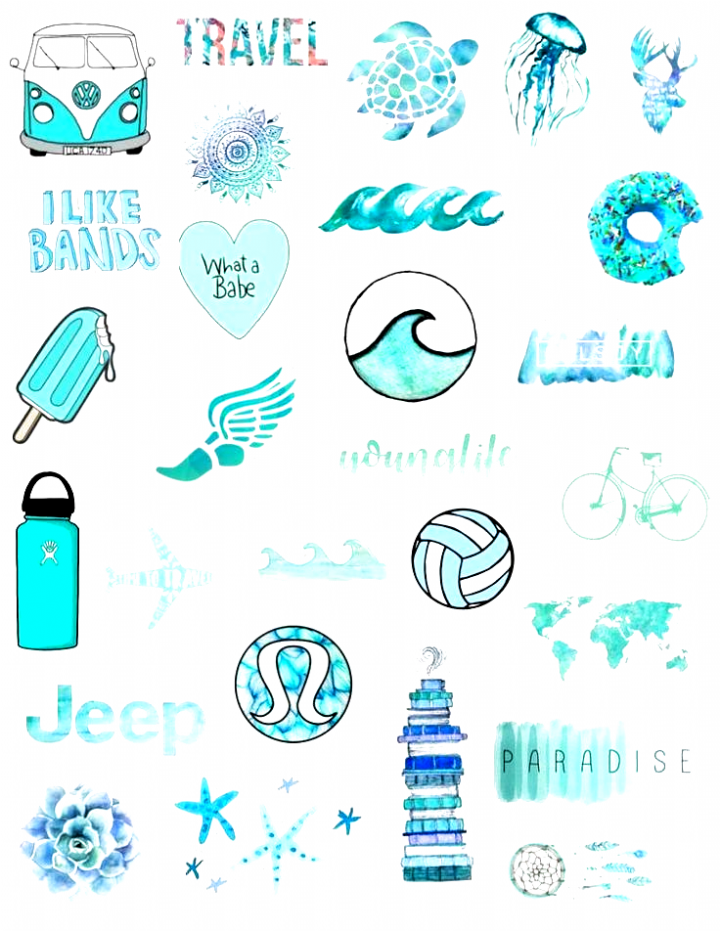 Pin On Aesthetic Tumblr Stickers Blue Waves Aesthetic Stickers