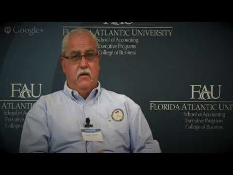 """Sgt. Jay Leiner (Ret.) talks about why it's important to not get """"tunnelvision"""" while working as a Forensic Accountant.  For more info, go to: http://accounting.fau.edu"""