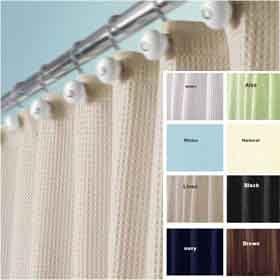 White York Waffle Weave Fabric Shower Curtain By Interdesign