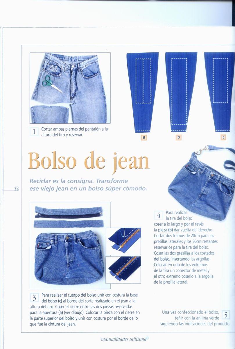 bolso-jean-07 | Costura | Bolsos de jeans, Bolsos de jean y Bolsos