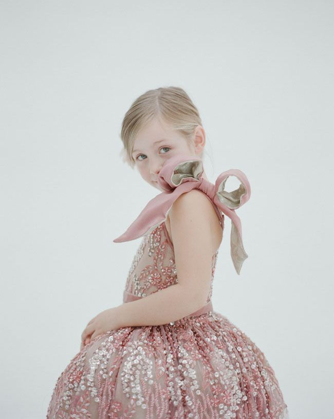 550d9c06bed9 Home - Green Wedding Shoes. Doloris Petunia flower girl dresses - that big  bow is just too cute