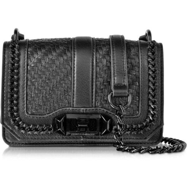 f72d7053c21a Black crossbody purse · Rebecca Minkoff Designer Handbags Woven Black  Leather Mini Love... ( 360) ❤