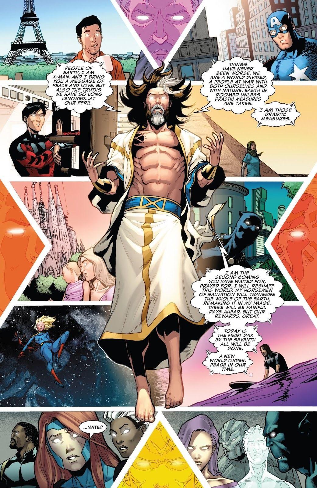 X Man Is All Grown Up In Uncanny X Men 4 Comicsverse Xmen Comics X Men Nate Grey
