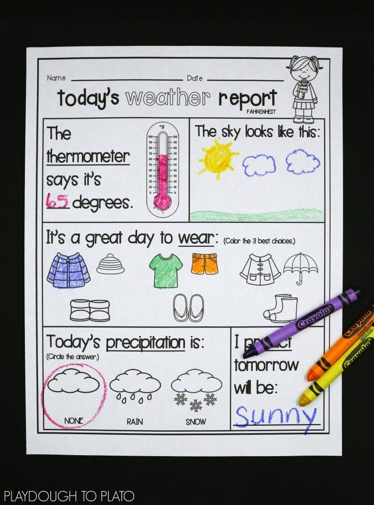 Weather Activity Pack Weather kindergarten, Teaching