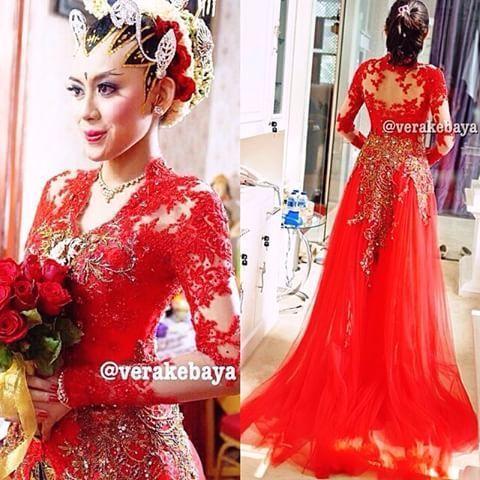Model Vera Kebaya Warna Merah Modern Terbaru Traditional Dress In