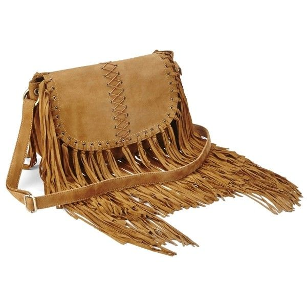 Simply Be Tan Suede Fringed Shoulder Bag rXH1OZWB