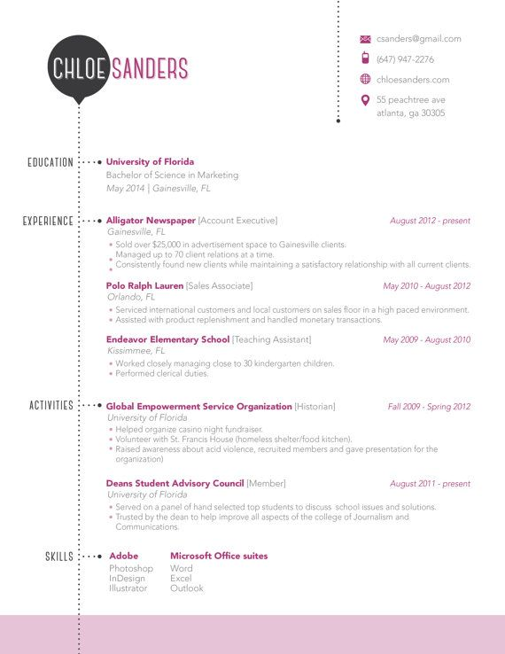 Resume Template  Available On Etsy I Really Like This Format At
