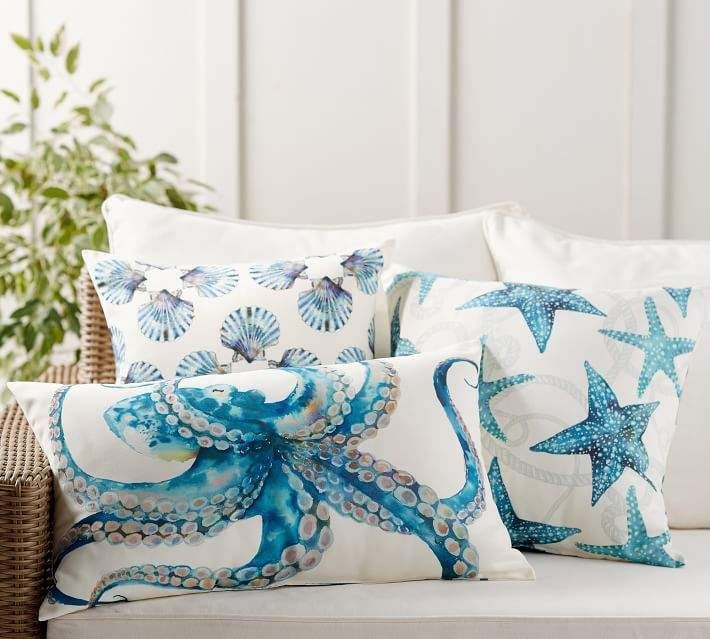What Is Pottery Barn Style Called: Pottery Barn Oceanic Indoor/Outdoor Pillow