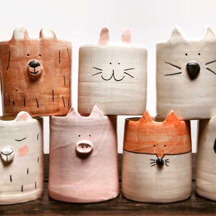 Töpfern, Tiertöpfe, Töpferinspiration #potteryclasses