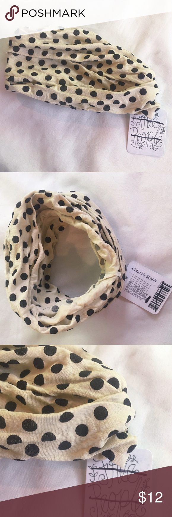 FREE people polka dot seamless headband hair wrap New With Tags Free People Polka Dot Print Seamless Headband Head Wrap Boho  Made in Italy  Super soft ***leopard print shown to display the fit polka dot print is available (check my closet for the leopard one) Free People Accessories Hair Accessories
