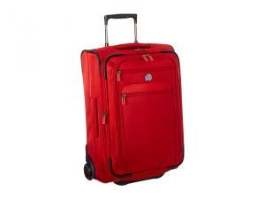 Delsey Helium Sky 2.0 Carry-On 2 Wheel Exp. Trolley (Red) Luggage
