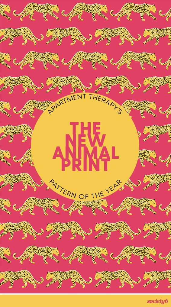 """Shop Apartment Therapy's new Pattern of the Year—""""The New Animal Print""""—in three striking colors… 