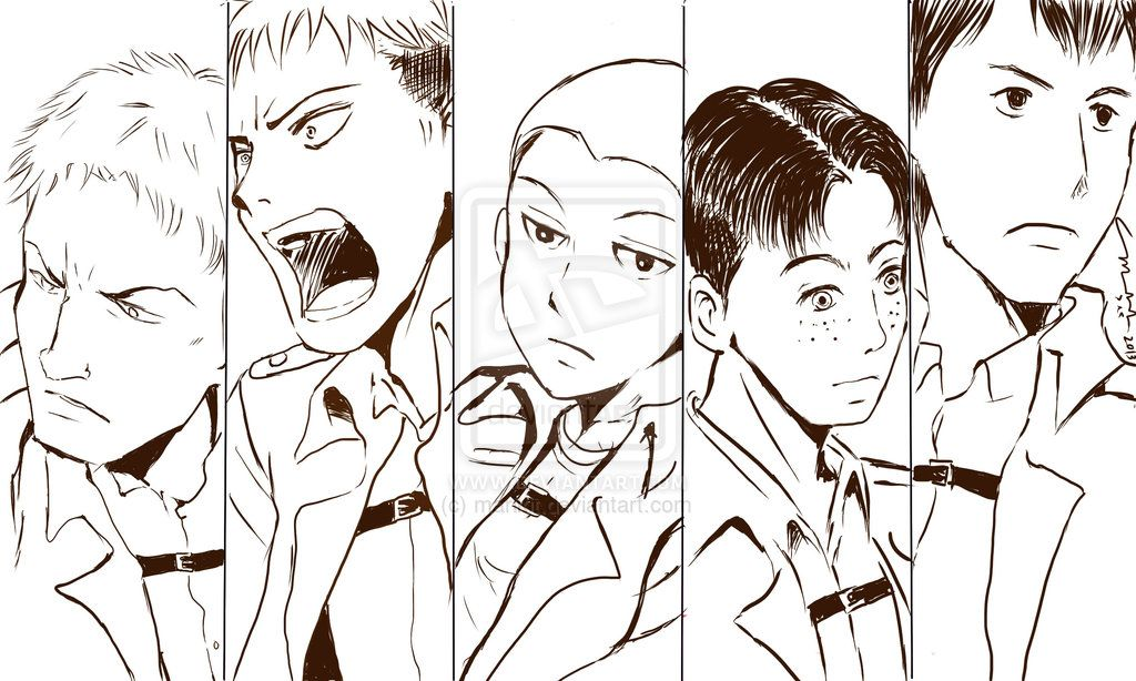 Guys of the 104th Trainees Squad by marikit.deviantart.com on @deviantART SnK AoT